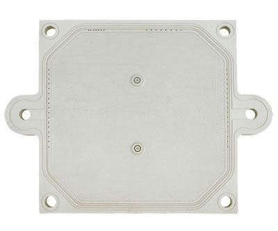 There is one filter plate with special design, two feeding holes outside the plate like two ears.