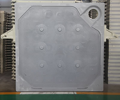 There is one corner feeding membrane filter plate in the warehouse.