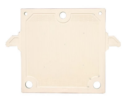 The plate and frame filter plate on the picture has five feeding holes and three drain holes.