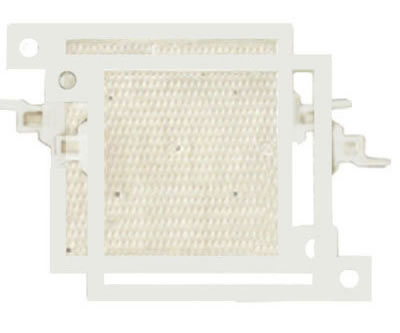 One set of plate and frame filter plate, with one plate and one frame, and feeding from outside.