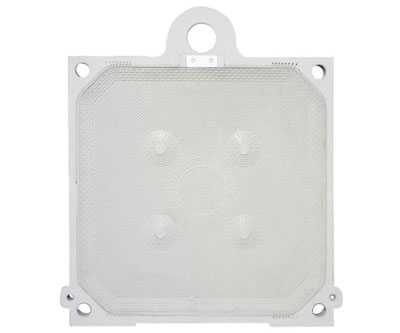 One top feeding membrane filter plate on the picture, the feeding hole is on the top outside the plate.